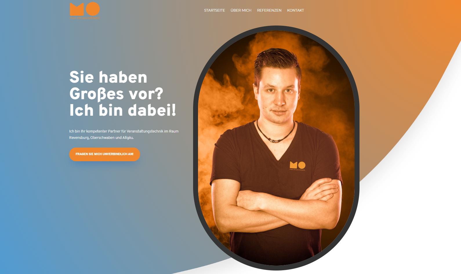 Veranstaltungstechnik Homepage-Relaunch | Max Ott